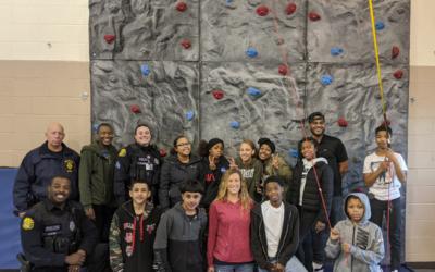 Police Activities League (PAL) Adds Rock Climbing Wall