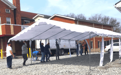 Frederick Rescue Mission Installs New Tent